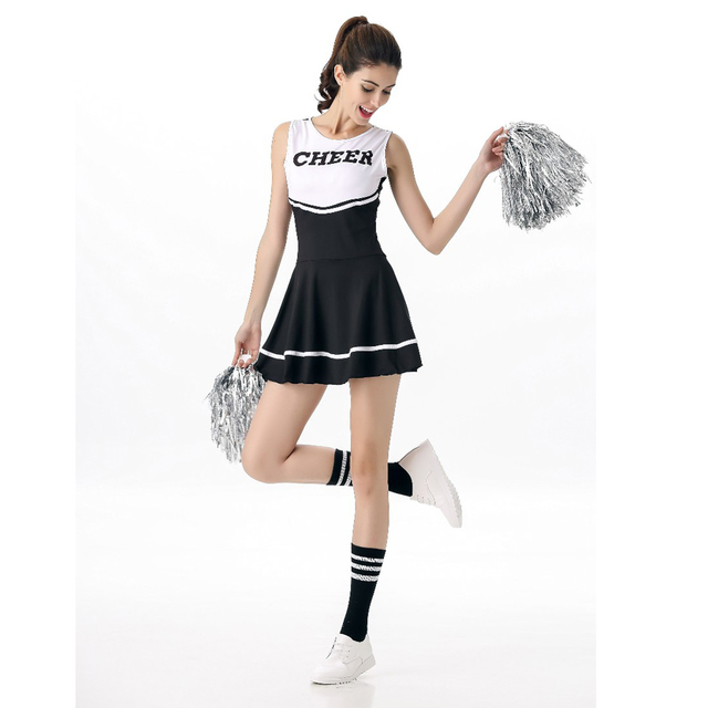 7b849850423f High Quality High School Cheerleading Fancy Dress Sexy Cheerleader Costumes  Girls Cheer Uniform School Girl Costume