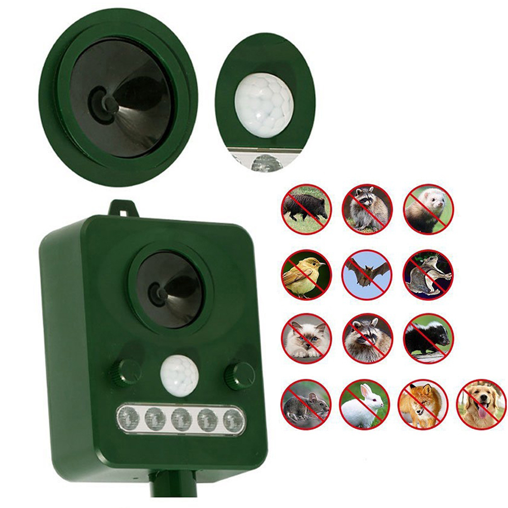 Animal-Repeller Garden-Supplies Rodent Pest Ultrasonic Solar-Powered Outdoor 45MA HZ title=