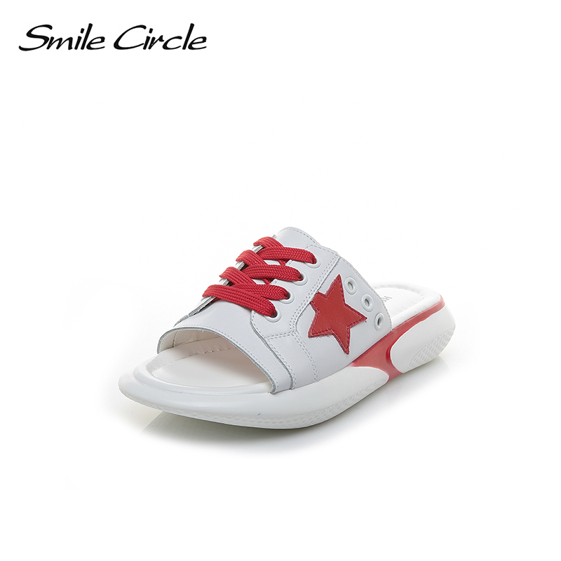 Smile Circle Summer slippers Women Fashion S Flat platform shoes Women sandals chaussures femme ete 2018 Summer shoes ...