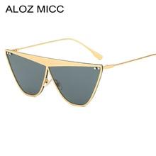 ALOZ MICC Rimless Sunglasses Womens Men Brand Design Cat Eye Fashion 2019 Summer Style Eyewear Q678