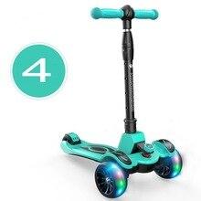 Детский складной скутер, 3 колеса складной скутер дети, складной детский скутер