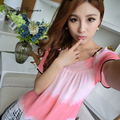 Soft sleepwear women sexy nightgown short sleeve satin nightshirt square collar pink see through night dress