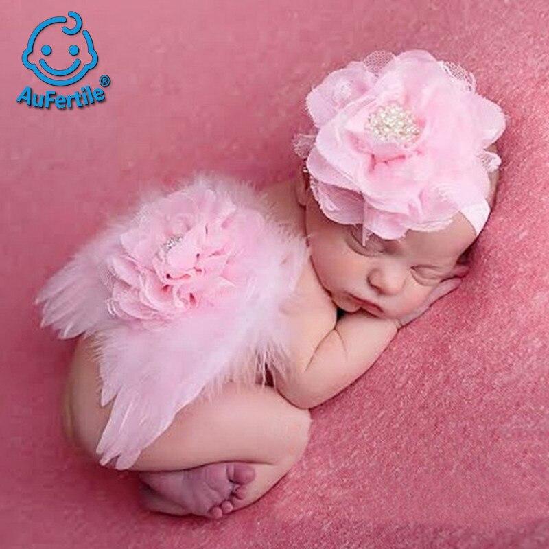 Baby Angel Wing Set Apoyos de la fotografía del niño Viste Pluma - Ropa de bebé