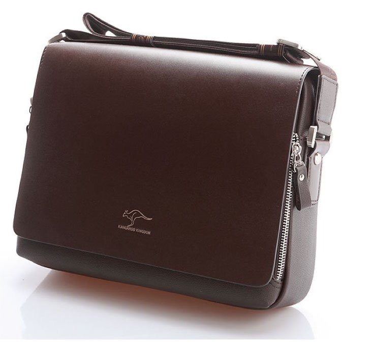 Authentic Kangaroo New Leather Men S Briefcase Messenger Bag Fashion Portfolio Shoulder Bags Black Brown In Briefcases From Luggage On