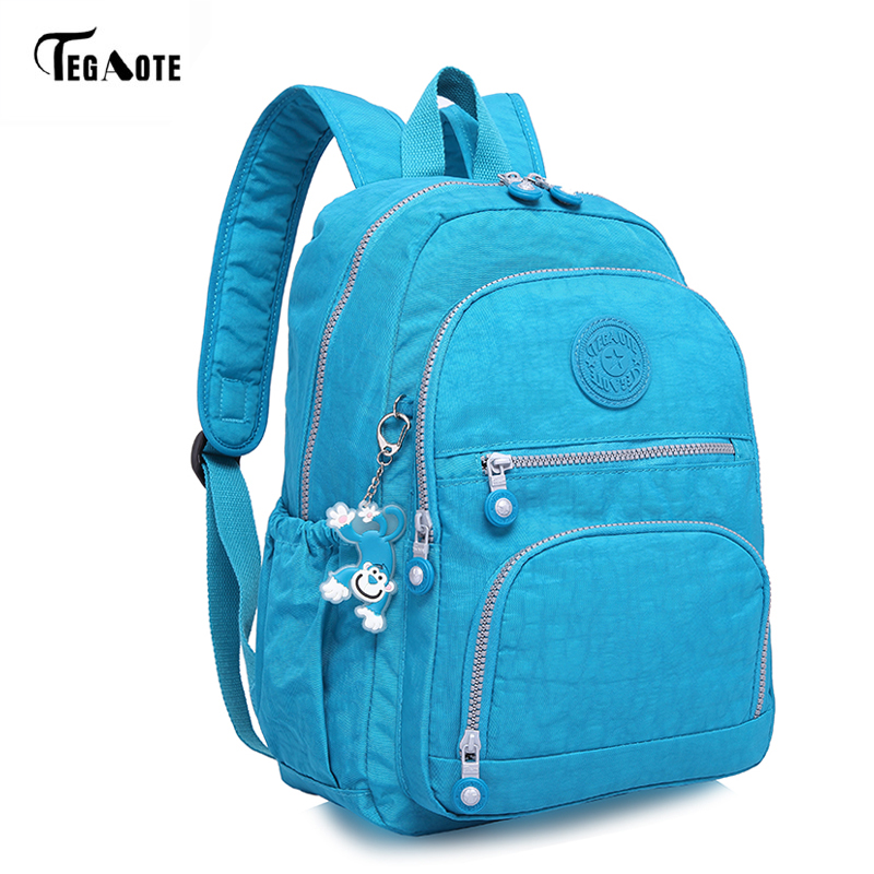 TEGAOTE Classic Mini School Backpack for Teenage Girls Casual Backpacks Female Women Brand Nylon Laptop Bagpack Shoulder Bags 16 inch anime teenage mutant ninja turtles nylon backpack cartoon school bag student bags double shoulder boy girls schoolbag