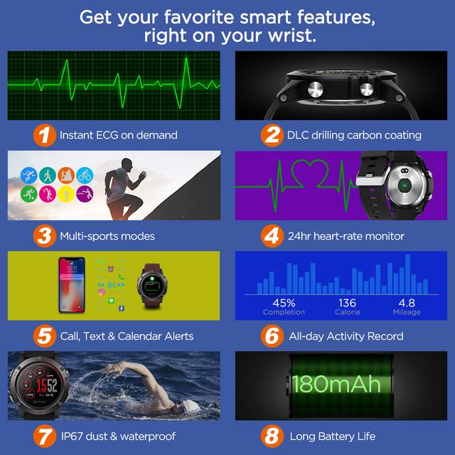 Zeblaze VIBE 3 ECG Instant ECG on demand Color Display Heart Rate IP67 Waterproof Multi-sports Modes Fitness Tracker Smart watch