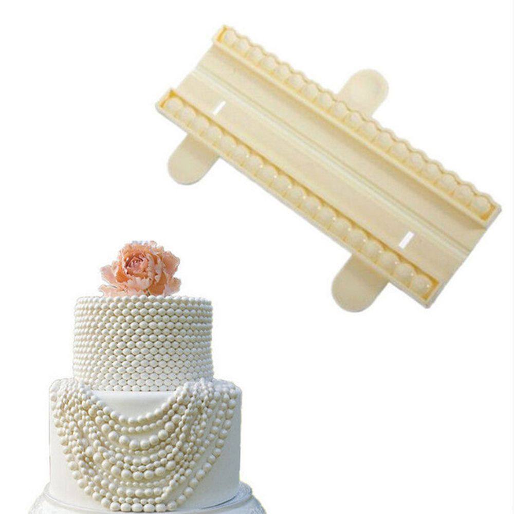 Lovely Pearl Bead Chain Silicone <font><b>Fondant</b></font> Mould <font><b>Cake</b></font> Chocolate <font><b>Decorating</b></font> Baking Mold Bead cutter <font><b>Cake</b></font> <font><b>Decorating</b></font> <font><b>Tools</b></font> image