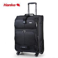 Hanke Expandable Luggage Trolley Case Men Women Suitcase Mute Spinner Wheels Rolling Luggage Top Reward Travel Bag H8050(China)