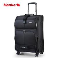 Hanke Expandable Luggage Trolley Case Men Women Suitcase Mute Spinner Wheels Rolling Luggage Top Reward Travel Bag H8050