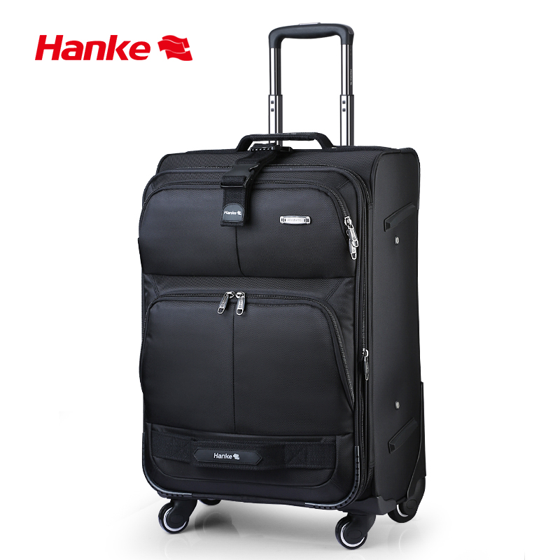 Hanke expansível bagagem trole caso das mulheres dos homens mala de viagem mudo spinner rodas rolando bagagem superior recompensa saco viagem h8050
