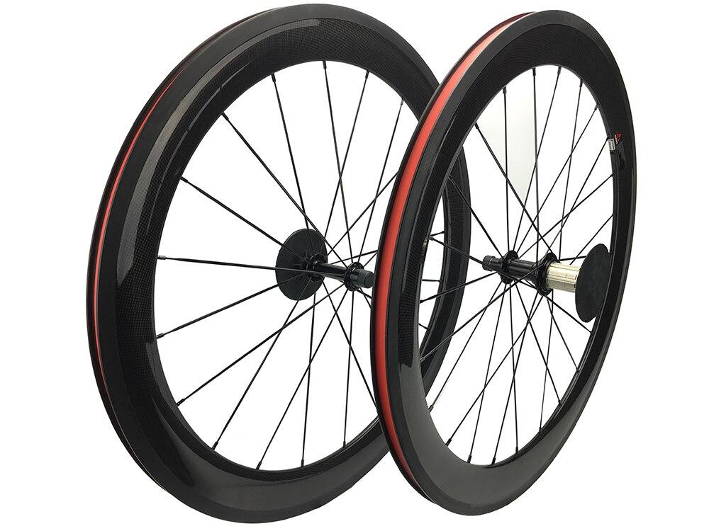 Vélo en carbone 60mm de profondeur 20.5mm de largeur roues de peinture libre vélo 700C roues de course