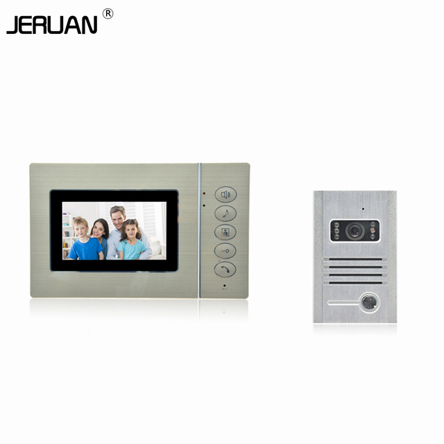 JERUAN High Quality 4.3 inch  Video Door Phone  intercom System IR camera doorphone free shipping