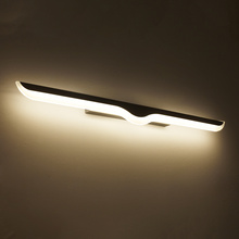 0.4m-1.2m Modern Led wall lamp bathroom mirror lights sconce bedroom living room luminaire lamparas de pared lighting fixture home antique chrome crystal wall lamps modern silver aluminium wall sconces lighting lamparas de pared bathroom led wall lights