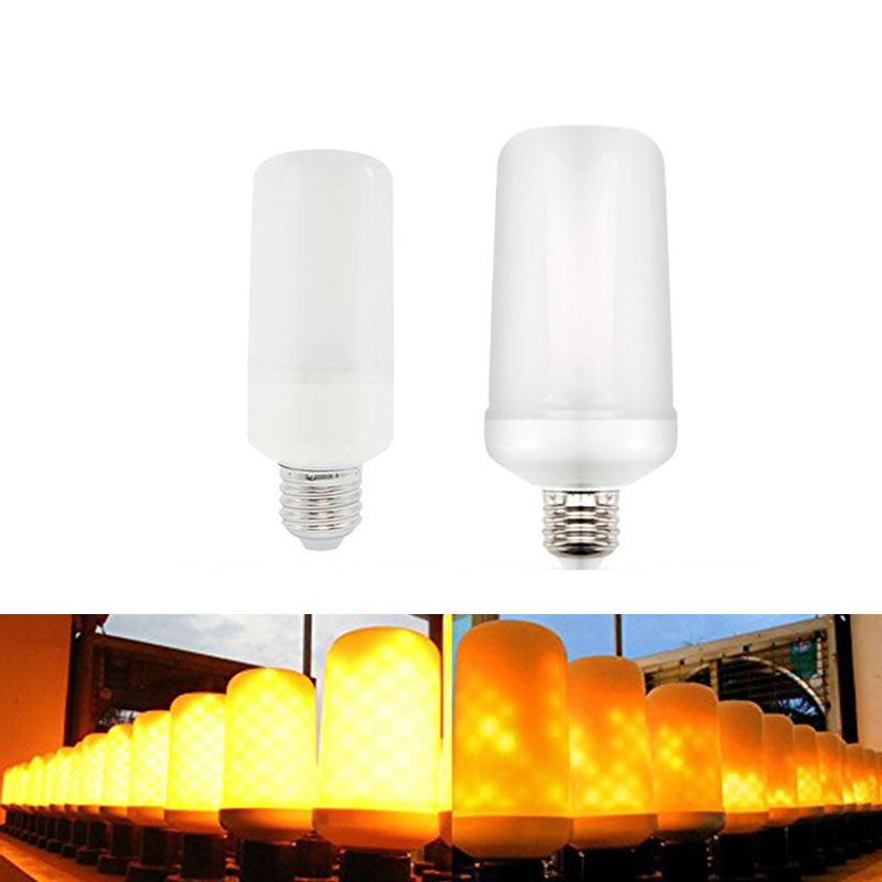 E27 E26 2835 LED Flame Effect Fire Light Bulbs 7W 9W Creative Lights Flickering Emulation Vintage Atmosphere Decorative Lamp