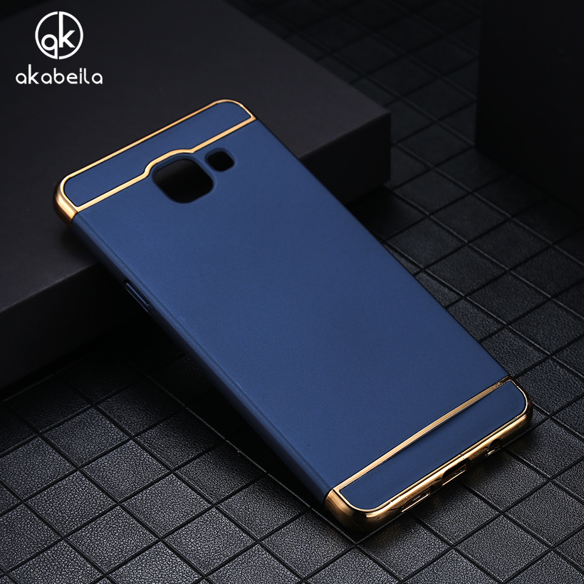 AKABEILA Phone Case For Samsung Galaxy A5 2016 Duos A510F A510F/DS A510FD A510M/DS Back Cover Plating Hard PC Plastic Cases