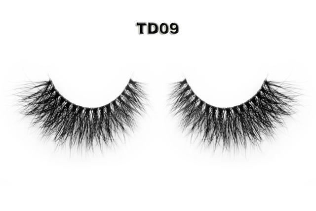 5 estilo Boa Venda 3D Banda Handmade Natural de Vison Autêntico Transparente Hastes Cílios Postiços TD09 TD10 TD12 TD13 TD14
