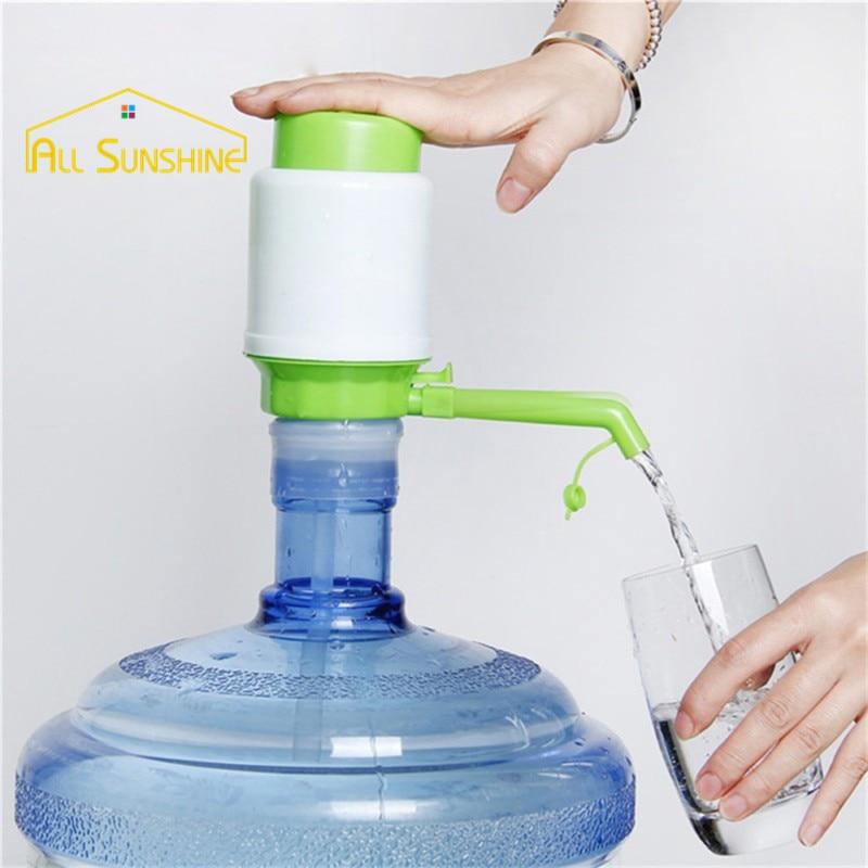 gallon bottled water drinking ideal hand press manual pump dispenser tool home outdoor office camping self - Water Jug Dispenser