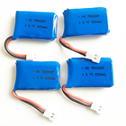 4 pcs 3.7V 20C 200mAh 752025 Lipo lithium polymer rechargeable Battery For Helicopter X4 X11 X13 RC Drone Parts connect