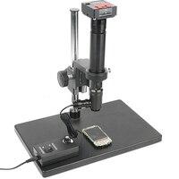 20MP 1080 P USB HDMI промышленный видео микроскоп камера 400X коаксиальное освещение оптика C крепление объектива для телефона сенсорный ЖК ITO PCB Прове