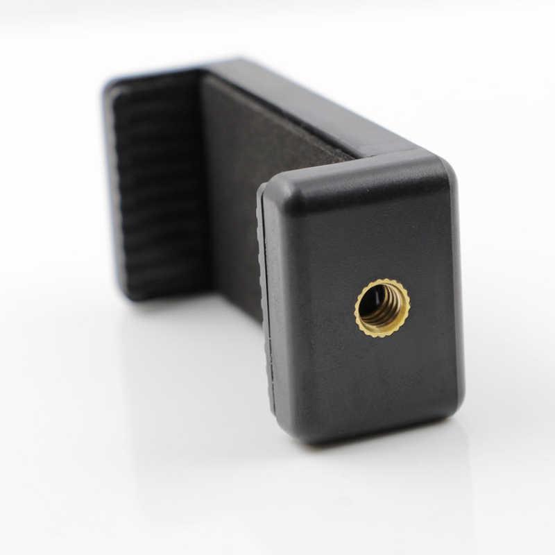 """ユニークなデザインのダブル 1/4 """"ネジ頭接続携帯電話三脚一脚ホルダーアダプタークリップ iphone 6s 7 プラス"""
