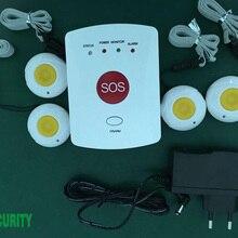 Gsm пожилых мобильного SOS вызова при аварийной сигнализации Системы+ 4 шт. как кулон и браслет паника SOS Пуговицы аварийного оповещения комплекты