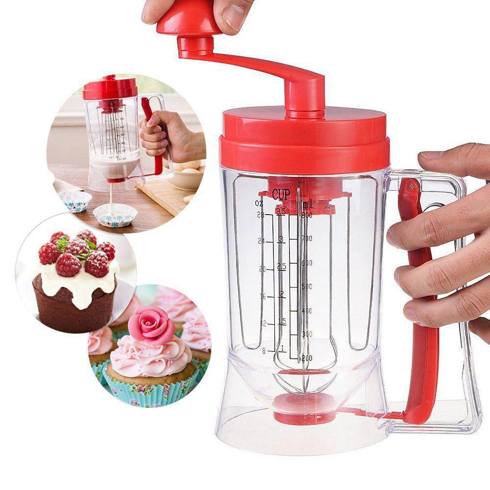 Manuelle Pfannkuchen Maschine 800 ml/26,7 unze Cupcake Trichter Teig Dispenser Creme Separator Werkzeug Kuchen Teig Verzichten
