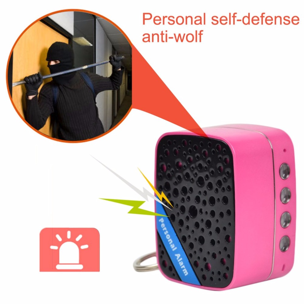 130dB SOS Personal Alarm Emergency Anti-Security Alarm System Self Defense With External Speaker + USB Cable blueskysea 2k hd s60 body personal security
