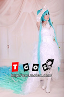 Free shipping! Newest! Vocaloid Hatsune Miku Devil Wedding Petal Dress Cosplay Costume ,Perfect Custom For you!
