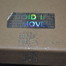 VOID IF REMOVED security Hologram only for one time use Silver color 20mmx50mm Holographic sticker for Packaging Free shipping