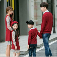 Family Matching Clothes Father Mother and Daughter Son Mommy Me Dress Outfits