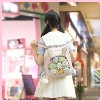 Clear Transparent Women Backpacks Cute Rabbit Ears Women Ita Bookbags Kawaii Small Women's Travel Backpacks Girls Back Packs New