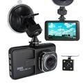 Lente Dupla Câmera DVR Full HD 1080 P Dual Lens Traço Cam Gravador De Vídeo 2 Câmera de Visão Noturna Carro DVR Camcorder