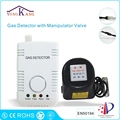 Yongkang LPG Natural Gas Leak Detector Alarm With DN15 Manipulator Valve for Gas Leakage Auto Shut Off