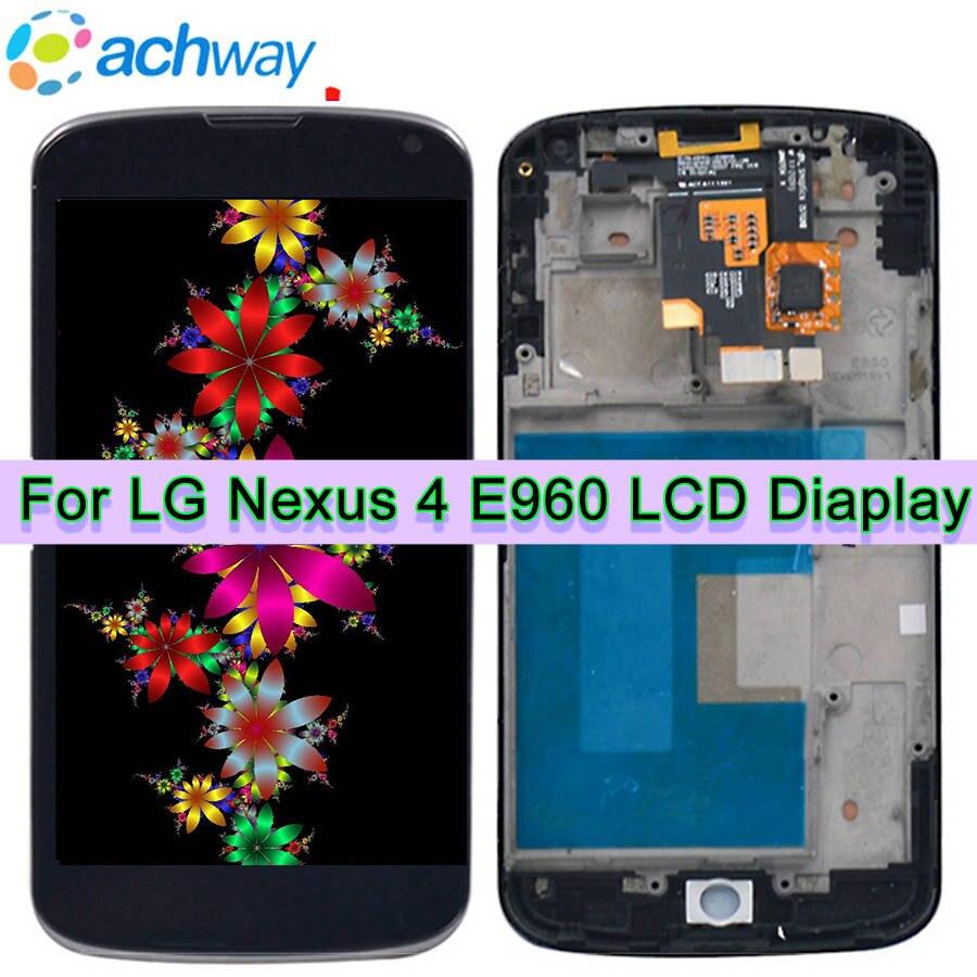 1280x768 Para lg e960 Google Nexus 4 E960 LCD Touch Screen com Digitador  Assembléia Com Frame + Ferramentas 4 7