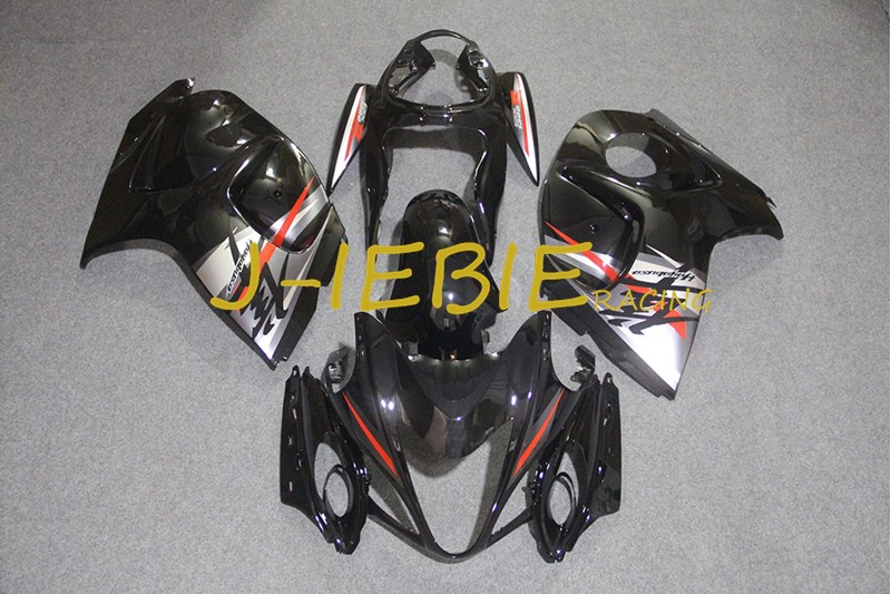 Black white Injection Fairing Body Work Frame Kit for SUZUKI GSXR 1300 GSXR1300 Hayabusa 2008 2009 2010 2011 2012 2013 2014