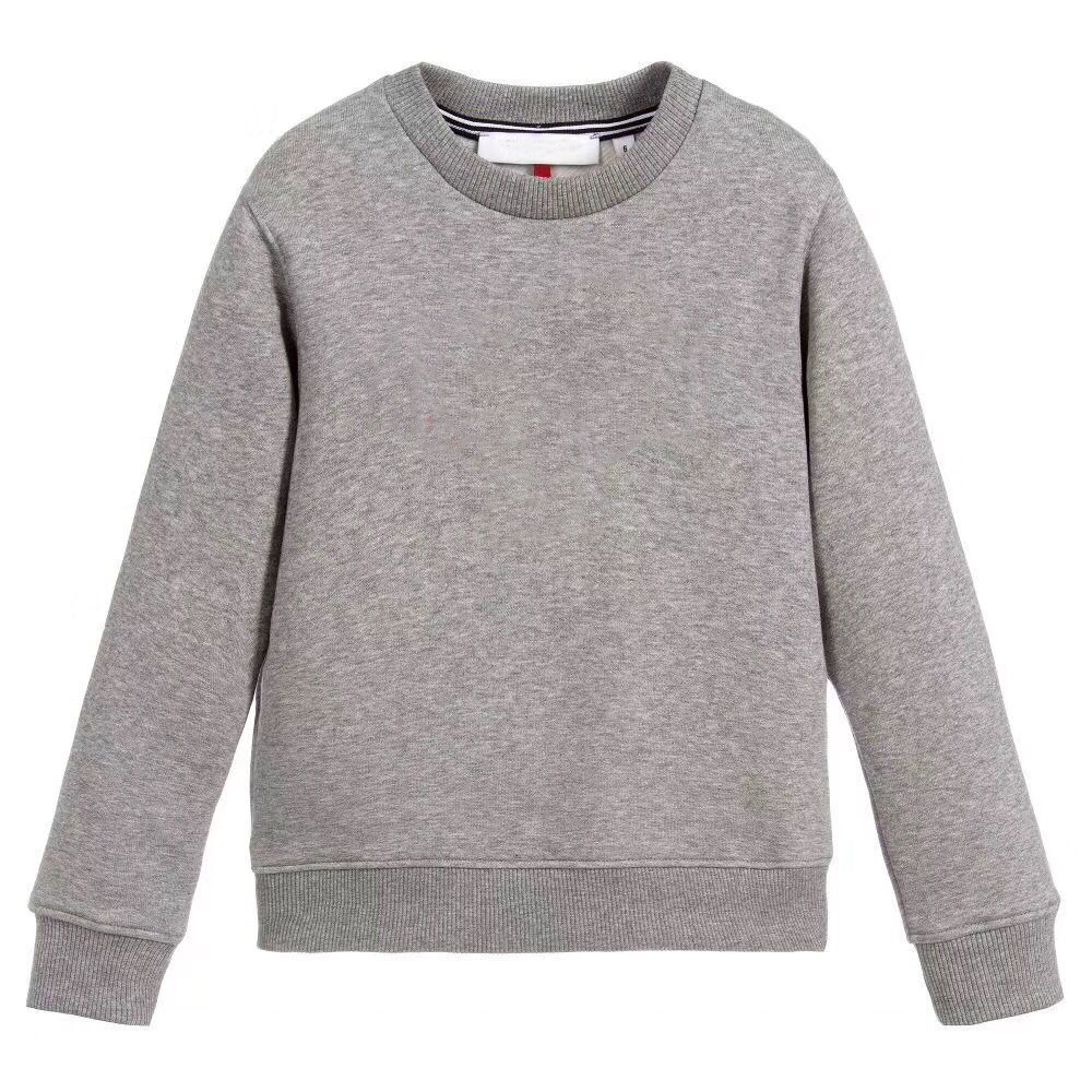 Kids Sweatshirt Children Autumn Tops Long Sleeve T-shirt Cotton Casual Grey Sweatshirts in stock grey casual loose round neck sweatshirt