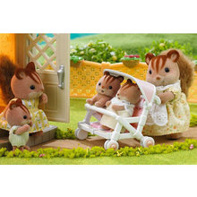 1:12 Genuine Sylvanian Families House Accessories Miniature Double Baby Doll Stroller Cute Dollhouse Furniture Kids Pretend Toys(China)
