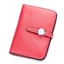 Fashion Female Genuine Leather Wallets Women Cowhide Hasp Clutch Bag Short Purse For Girls Ladies Money