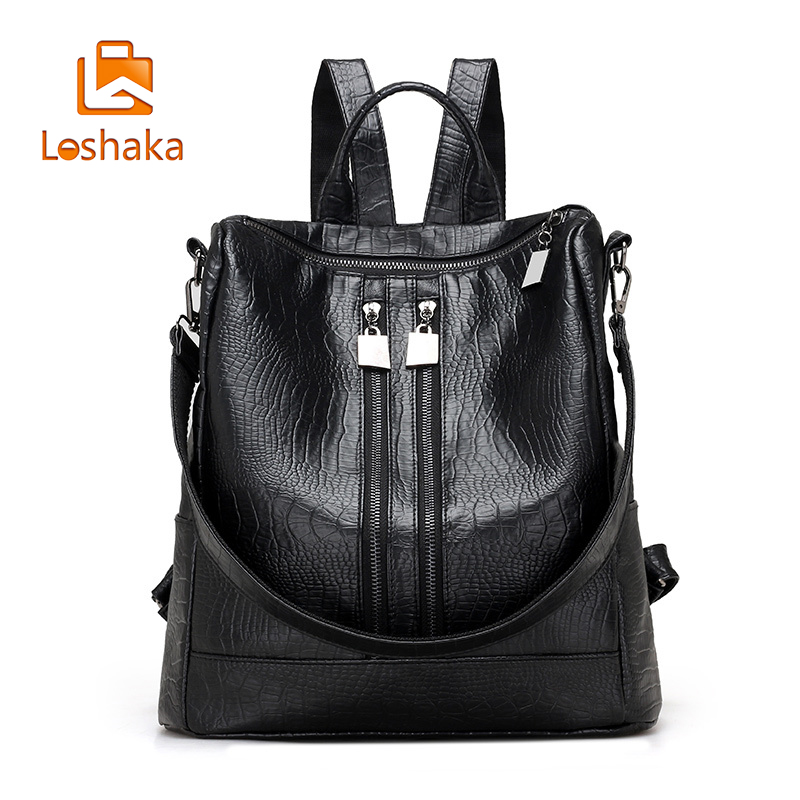 Loshaka Mochilas Mujer 2017 Laptop Backpacks Women's Backpack The Girl's School Backpack  School Supplies