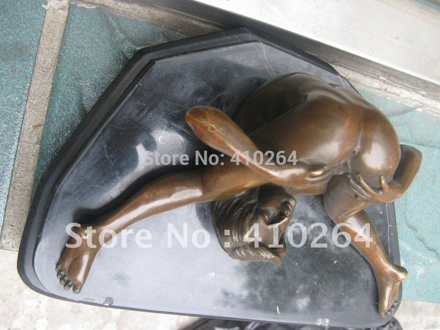 Larger Nudes Air Captivating Beautiful Naked Sexy Woman On Stone Bronze Statue Discount 30%