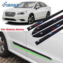 smRKE For Subaru forester outback Legacy XV BRZ All Series 4pcs Rubber Car Body Anti Scratch Protector Bumper Stickers On Cars shock absorber spring bumper power cushion buffer 4pcs lot for subaru outback subaru xv subaru forester subaru forester