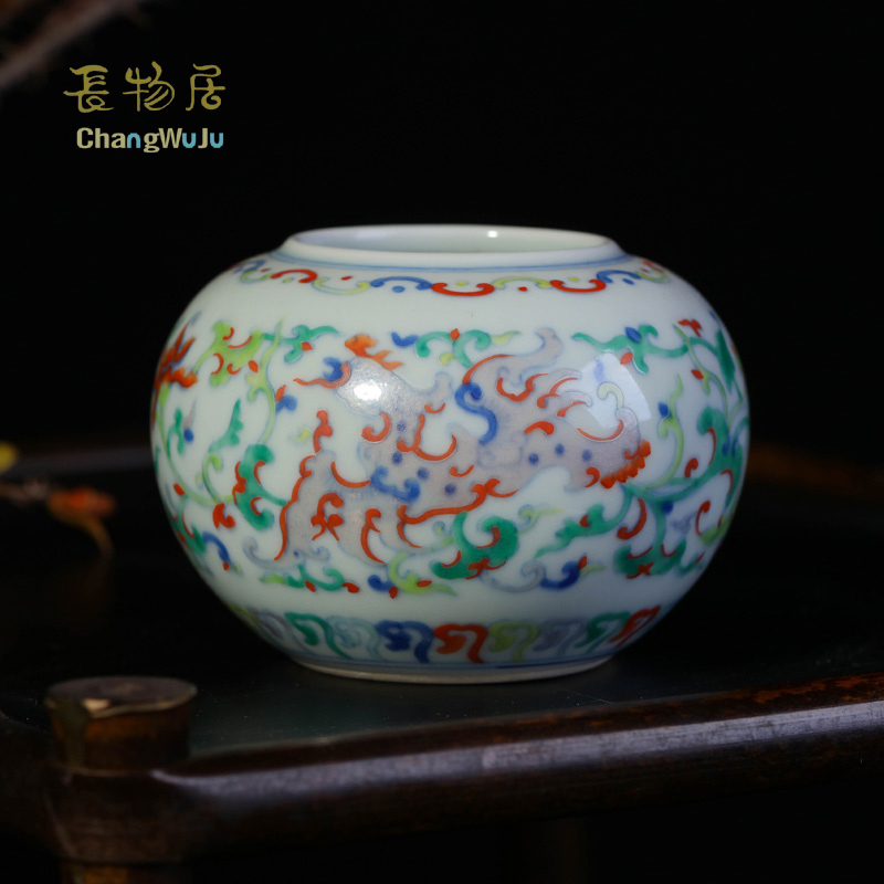 Changwuju in Jingdezhen home decoration accessories ceramic the blue and white clashing colour porcelain writing brush washer