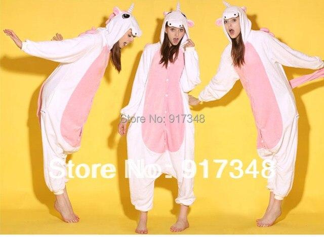 9b8cdf5c8 Pink White Unicorn Pony Onesies Animal Onesie Pajamas Jumpsuit ...