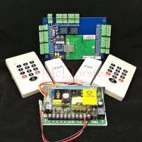 Wiegand TCP IP Two Doors Doubel Door Access Control System Kit 2 PCS Rfid Keypad Card