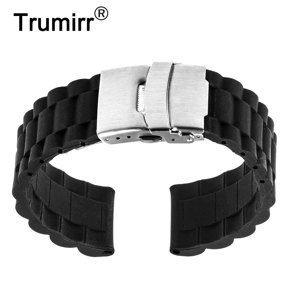 все цены на 17mm 18mm 19mm 20mm 21mm 22mm Silicone Rubber Watch Band for Timex Weekender Expedition Men Women Strap Wrist Belt Bracelet онлайн