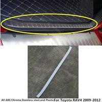 Car body Stainless Steel Inner Rear trunk Bumper trim plate lamp frame threshold pedal 1pcs For Toyota RAV4 2009 2010 2011 2012