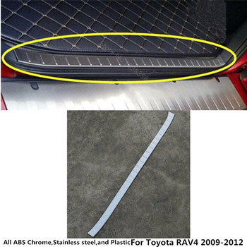 Del cuerpo del coche de acero inoxidable interior trasero tronco parachoques Placa de recorte lámpara marco umbral pedal 1 piezas para Toyota RAV4 2009 2010, 2011, 2012,
