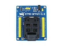 STM8 QFP64 STM8 Программирование Адаптер ИК Тест Разъем для LQFP64 Пакета 0.8 мм Pitch с ПЛАВАНИЕМ Порт = STM8-QFP64-0.8