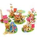 Дети DIY игрушки древесины 3D модель головоломка строительство комплекты деревянные развивающие игрушки 6 конструкций для выбирают прямая поставка HT238