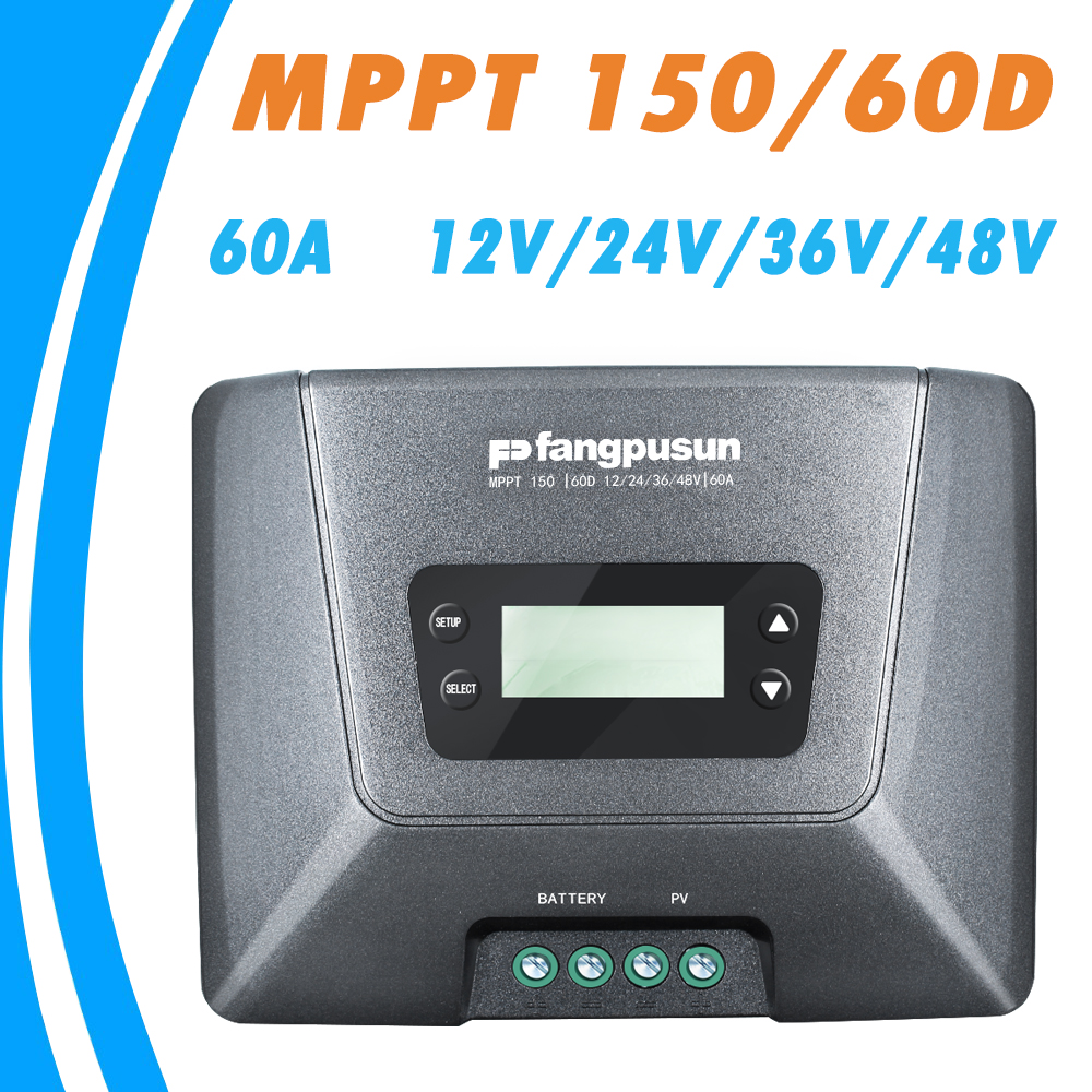 купить MPPT 150/60D Solar Charge Controller 60A 12V 24V 36V 48V Auto for Max 150V Solar Panel Input LCD Display High Quality Regulator в интернет-магазине